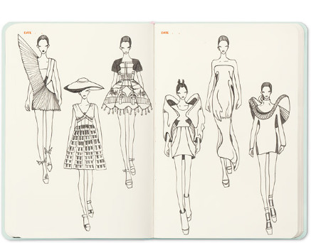 Fashionary x swash candy 39 s palace a5 sketchbook for Fashion sketchbook with templates